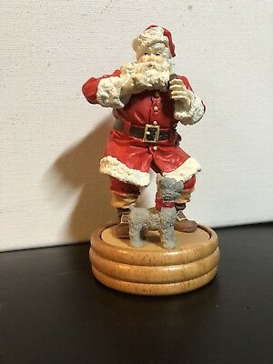 "Vintage 1989 Coca Cola 5"" Santa Figurine Fine Handcrafted Collectible #36039"
