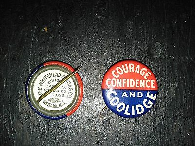 1924 CALVIN COOLIDGE for president pinback button!