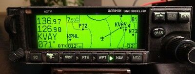 GARMIN GNC 300XL GPS/COMM 14 VDC P/N 011-00433-00 with tray / antenna