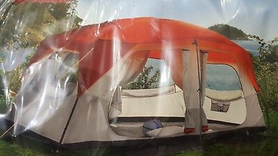 GREATLAND FAMILY CABIN Tent Ozark Trail 14x10 7-8 Person Camping Outdooe  Sleeper