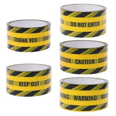 48mm×25m Yellow Warning Tapes Caution Mark Work Safety Adhesive Tape DIY Sticker