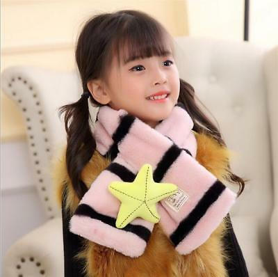 New Child Winter Warm plush scarf baby Wai neck Stripe lovely thick Scarves