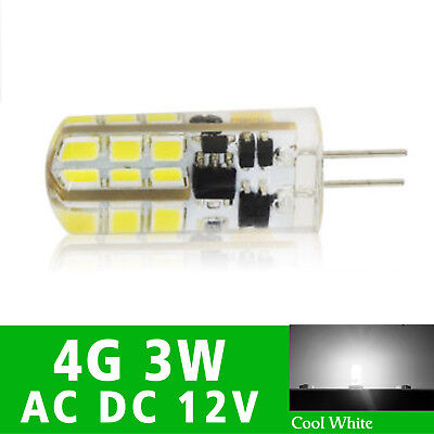 10X G4 3W Led Bulb Cool White Light Capsule AC/DC12V SMD Lamp 24LED Dimmable