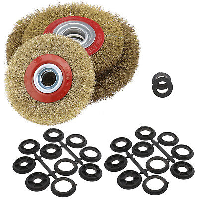 Durable Steel Wire Wheel Flat Wheel Brush Polishing Burrs For Bench Grinder