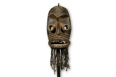 "Bearded Dan Kran Mask 17.5"" with stand - Ivory Coast"