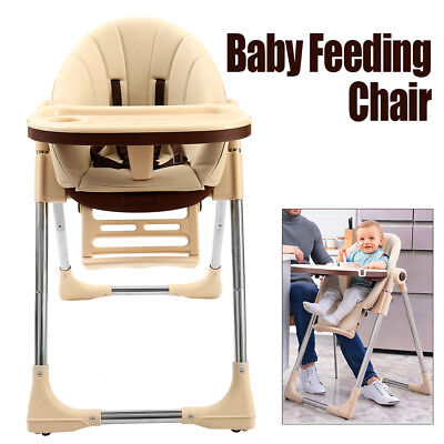 Adjustable Baby Highchair Durable Child Eating Feeding Table Seat High Chair AU