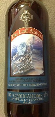 10 COMMANDMENTS The Lost Abbey -Port Brewing Company -Empty 25.4 ounce Bottle