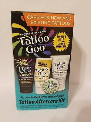 Tattoo Goo -Tattoo Aftercare Kit - 4 Pieces Total|BRAND NEW|FREE SHIPPING TO USA