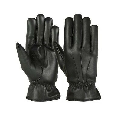 New Men's Winter Dress Gloves Soft Thermal Lined Dressing Real Leather Black