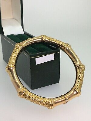 An Antique (Edwardian) 15K Rose Gold Bamboo Bangle by T. Willis & Sons.