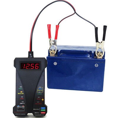 12V Digital ATV Motorcycle Battery Tester Charging Circuit Analyzer Tool Durable