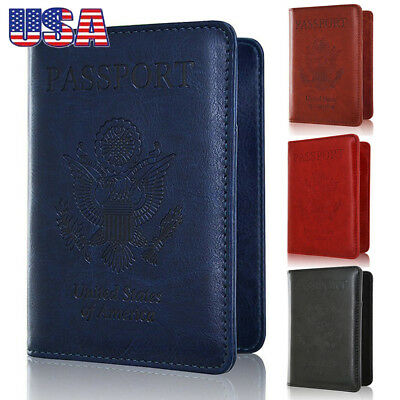 US RFID Blocking Credit Card Passport Holder Case Cover Safety Sleeve Protector