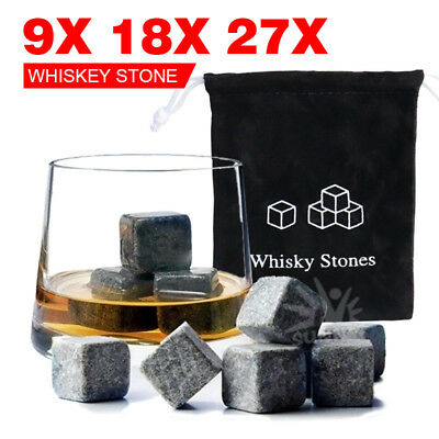 Whiskey Stone Ice cube Reusebale Icecubes Drinks Cooler Whisky Scotch Party