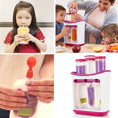 NEW Infant Baby Food Feed Station Maker Pouches Homemade Fresh Squeeze Storage