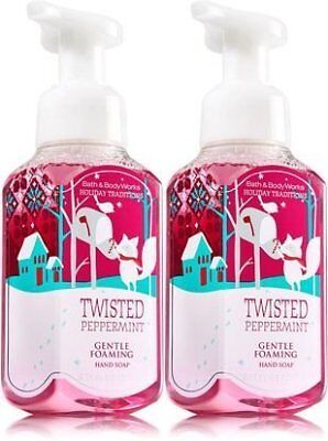 Bath &Amp; Body Works, Gentle Foaming Hand Soap, Twisted Peppermint (2-Pack)