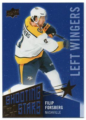 2018-19 Upper Deck Series 1 Shooting Stars Left Wingers Pick Any Odd 1:96