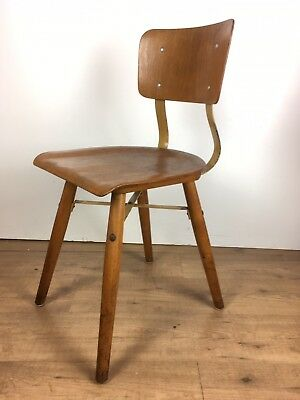 mid century-Industrie Design chair-stuhl-50s-fifties Arbeitsstuhl