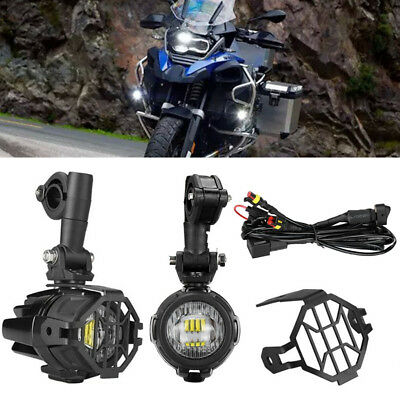 Motorcycle LED Head Fog Driving Light 40W For BMW R1200GS F800GS +Bracket Switch