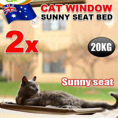 2x Washable Cat Window Mounted bed Seat Pets Sunny Cover Cushion