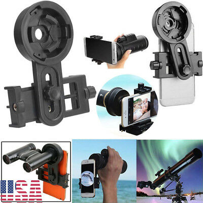 Universal Mobile Phone Adapter Clip Bracket Holder Mount Microscope Telescope