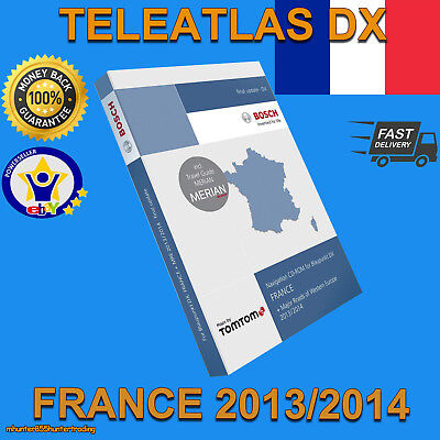 Teleatlas Dx France Français 2014 Sat Nav Disc Map Navigation Cd Mfd1 Mercedes