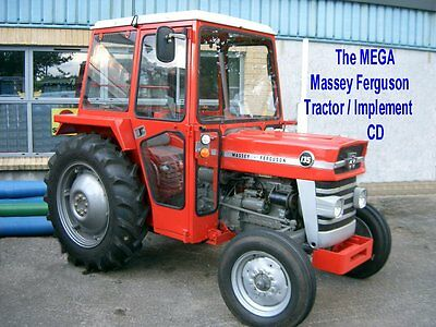 MEGA Massey Ferguson (MF) Tractor & Implements info on CD