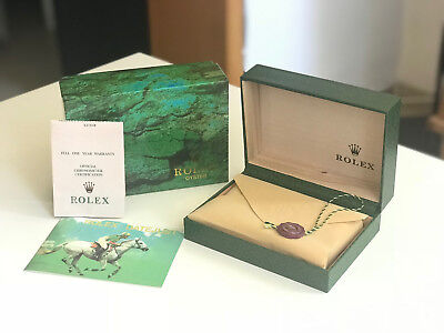 Rolex Oyster Watch Box Geneve Suisse Vintage Wooden Green With Pillow Empty Boxe