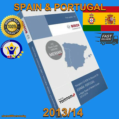 Teleatlas Dx Spain & Portugal 2014 Sat Nav Disc Map Navigation Cd Mfd1 Mercedes