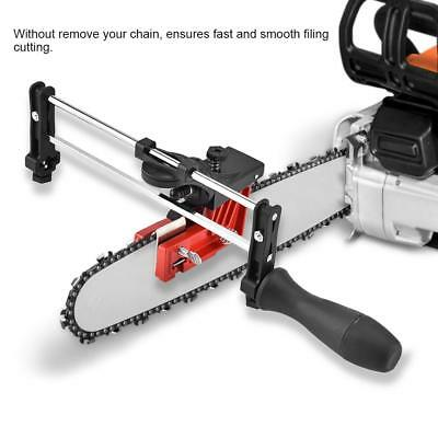 Bar Mount Mounted Manual Chain Sharpener Chainsaw Saw Chain Filing Guide Tool SG