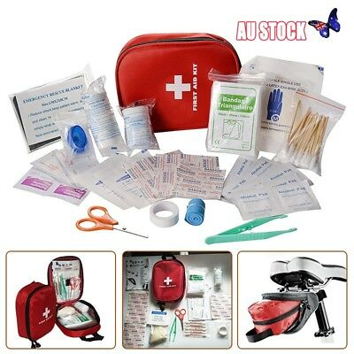 First Aid Medical Emergency Kit Survival Bag Camping Sport Home Holiday Travel