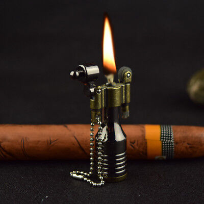 Vintage Metal Flame Kerosene Lighters Retro Torch Lighter Novelty Gadget Militar