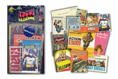 1960s Childhood Memorabilia Pack, Replica Artwork Nostalgia Xmas Gift