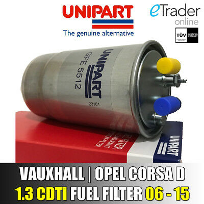 for VAUXHALL CORSA D DIESEL FUEL FILTER 1.3 CDti 2006-2015 Opel Genuine Unipart