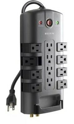 Belkin 12-Outlet Pivot-Plug Power Strip Surge Protector with 8-Foot Power Cord,