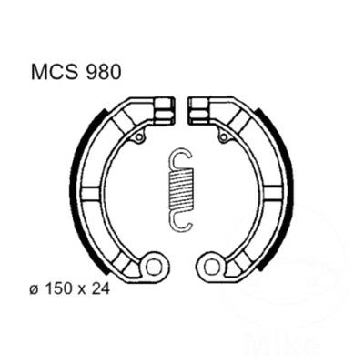 Brake Shoes Exc Springs TRW For Vespa FL 50 1990