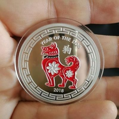 2018 Year of the Dog 1 oz .999 Fine Silver Round Coin  NEW!