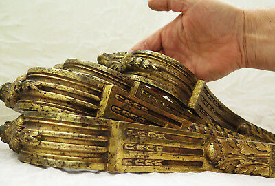 Four Antique Heavy Brass Classical Curtain Pole Holders