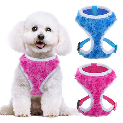 Breathable Mesh Small Dog Harness Puppy Vest for Puppy Cat Girl with No Pull S-L