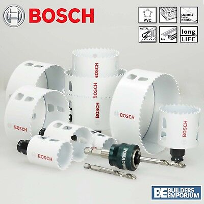 Bosch Hole Saw Cutter Bit HSS Bi-Metal Wood Plastic Quick Change Release Holesaw
