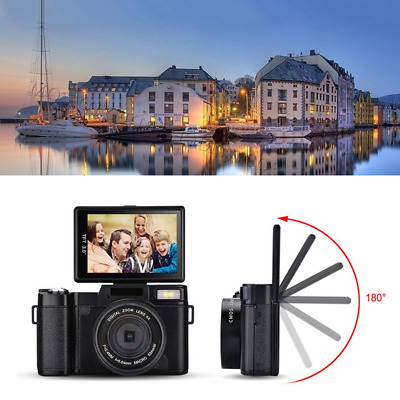 "Amkov 3.0"" LCD Flip Screen 24MP FHD Digital Camera with 4x Digital Zoom LF766 G"