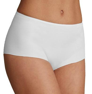 Ex Marks and Spencer Womens Cotton No VPL High Rise Knickers Boy Shorts White