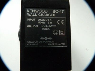 Kenwood Bc-17 Charger For Amateur Radio Equipment