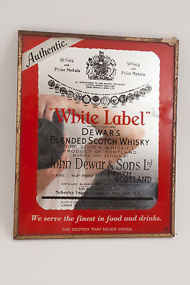 Dewar's White Label Blended Scotch Whisky Mirror Schenley Scotland (H5L) Sign