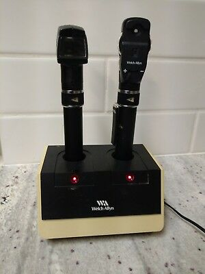 Welch Allyn 728 Pen Otoscope, Opthalmoscope & Charger Base-used