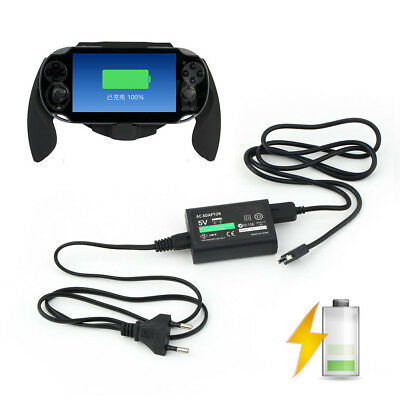 Pro Stable Mains Charger Power Adapter For Sony PS Vita USB Data Cable EU Plug