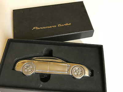 Porsche Design Gifted Billet Aluminum Paperweight 1:43 Scale Panamera Turbo. Nib