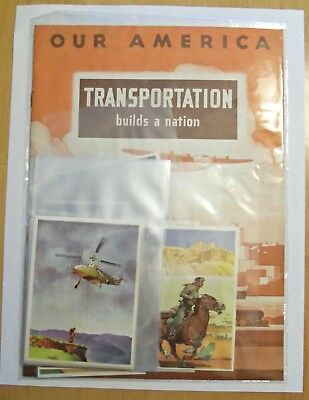 1943 Our America Transportation - Book And 20 Stickers Coca Cola Unused