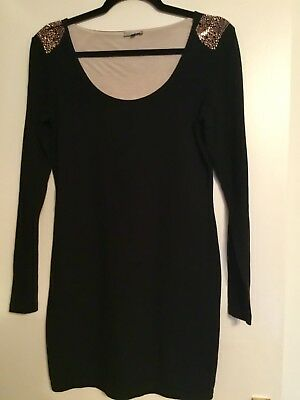River Island Black Bodycon Dress Size 12.  I WILL BE ON HOLIDAY 14th June -29th