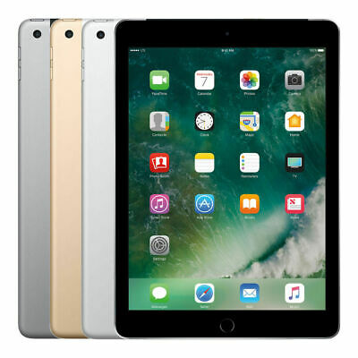 Apple iPad 5th Gen 32GB 128GB Wi-Fi, 9.7in - Space Gray Silver Gold