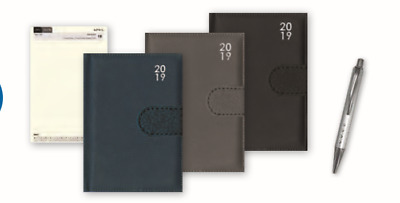 2019 Week to View A5 Diary A-Z Address Book With Pen Organiser Leatherette Cover